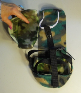 Goose Camo Diaper Holder with ring back